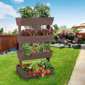 Aivituvin's vertical raised garden bed for strawberries