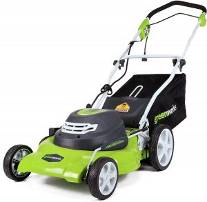 Greenworks electric mower for St Augustine grass