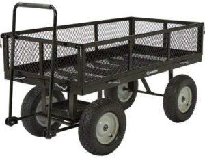 Strongway Steel Jumbo Garden Wagon